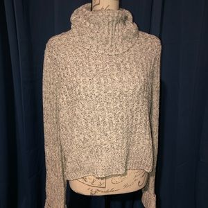FREE PEOPLE BLACK/IVORY COMBO KNIT SWEATER L NWT